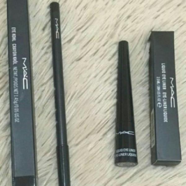 Kit delineador liquido + lápis para olhos - MAC