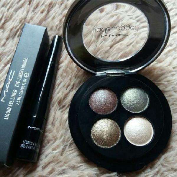 Kit para olhos sombras + delineador - mac