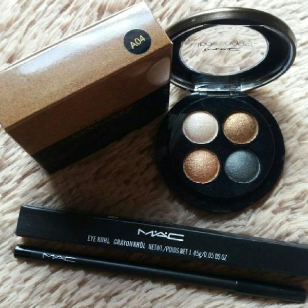 Kit para olhos sombras + lápis preto - mac