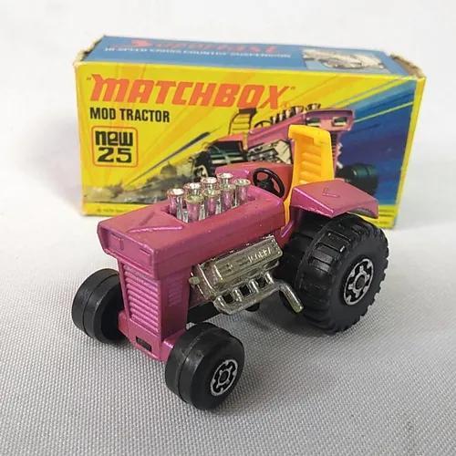 Matchbox brinquedo antigo lesney trator mod tractor 1/64 #25
