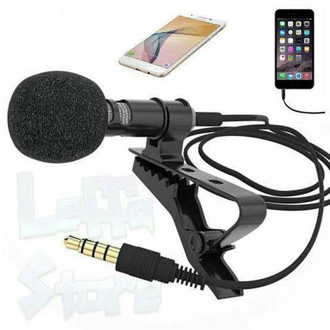 Microfone de lapela p3 celular tablet e notebooks