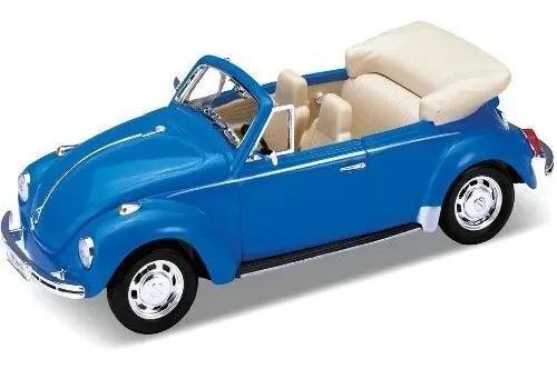 Miniatura carro fusca conversível antigo 1/24 colecionavel