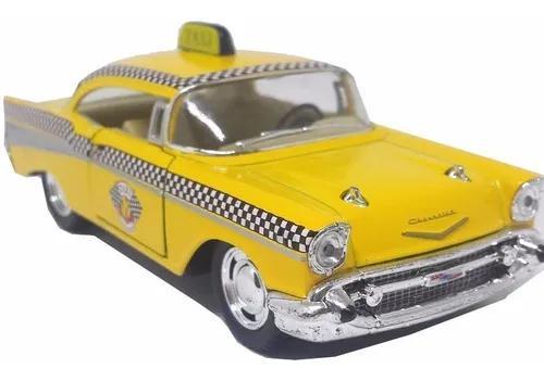 Miniatura táxi americano bel air antigo - ferro/fricção