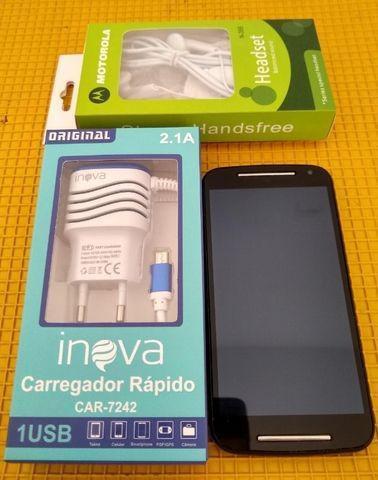 Motorola moto g2 16gb, dual chip, com garantia (entrego)