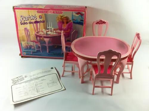 Sala jantar boneca barbie brinquedo antigo coleção estrela