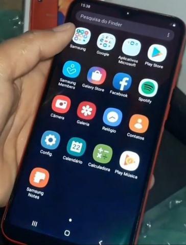 Samsung a10 semi novo com nota fiscal