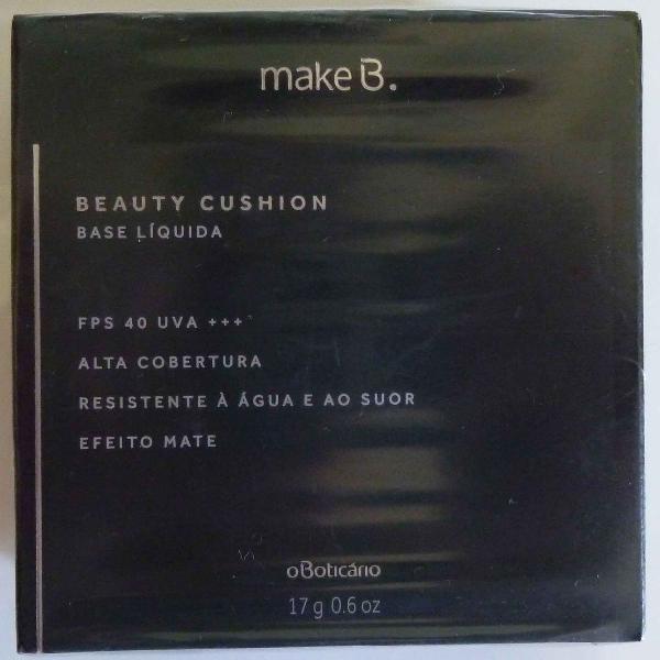Base líquida beauty cushion make b. boticario - bege claro