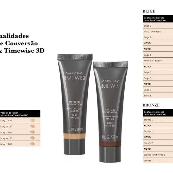 Base time wise mary kay todas as cores + brinde