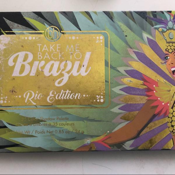 Bh cosmetics take me to brazil rio paleta sombra