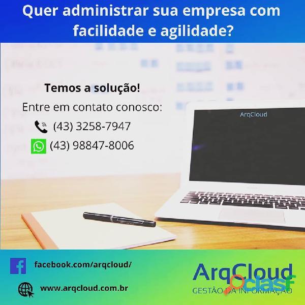 Erp arqcloud sistema de gestão empresarial   londrina & região