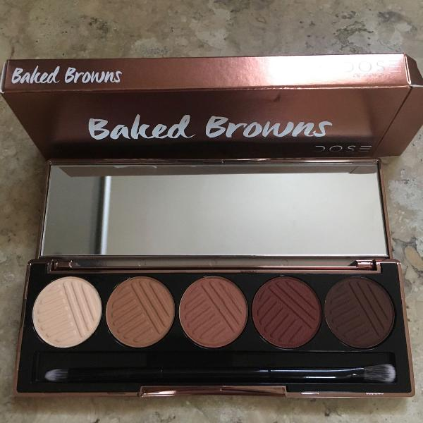 paleta de sombras baked browns dose of colors