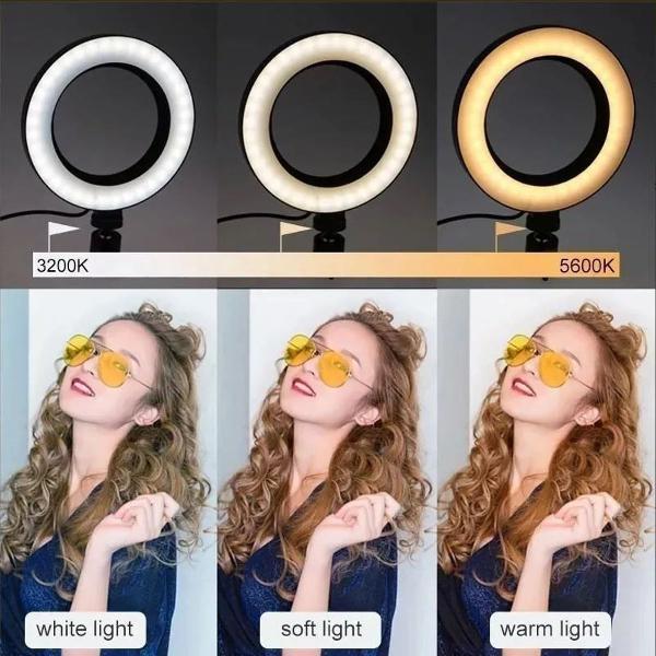 ring ligth anel de luz para fotos 16cm make foto + suporte