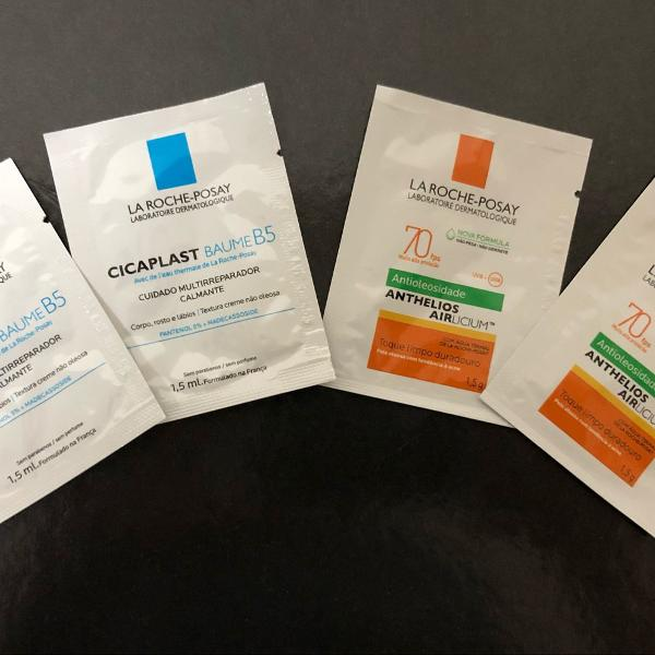 4 amostras de dermatocosmeticos !!! la roche posay!!!