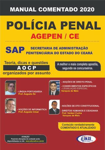 Apostila dince policial penal (agepen) - manual comentado -