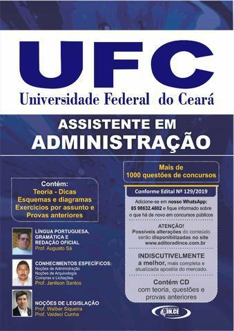 Apostila dince ufc - assistente em administração 2020