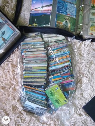 Cartões telefônicos colecionáveis (usados)