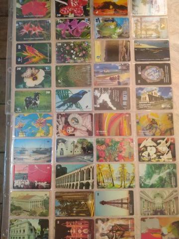 Cartões telefônicos coleções