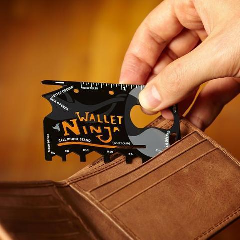 Cartão wallet ninja, almofada, caneca, jogo americano