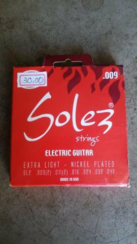 Encordoamento p/ guitarra solez 09 ? made in u.s.a