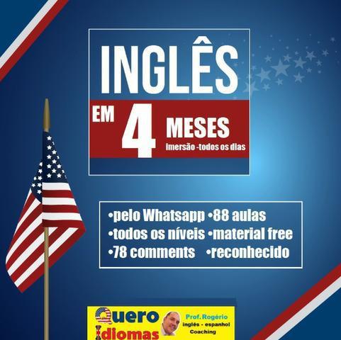 Inglês levado à sério. fale inglês em 4 meses. estude