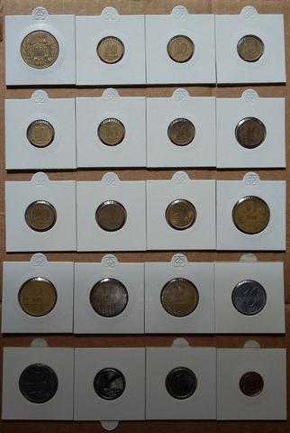 Lote c/ 20 moedas nacionais