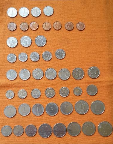Lote c/ 48 moedas nacionais distintas