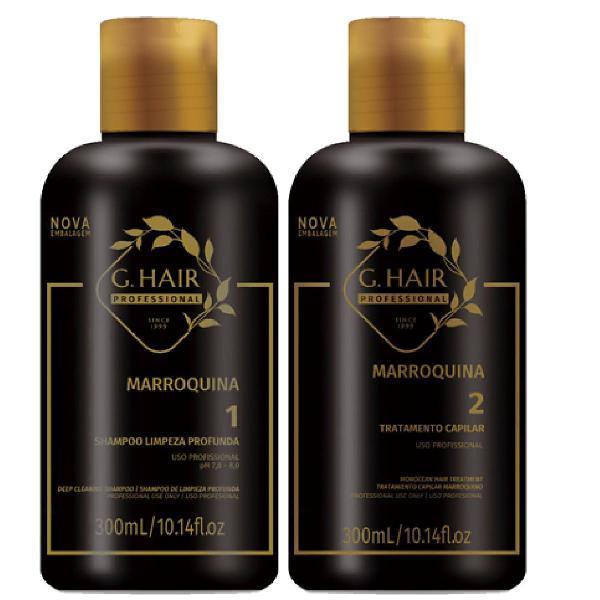 Kit g.hair tratamento escova progressiva marroquina 300ml