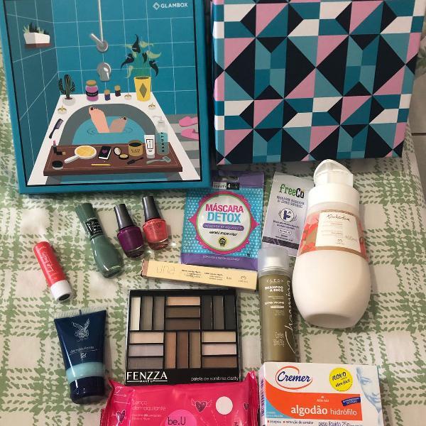 Kit de cosméticos + caixa glambox