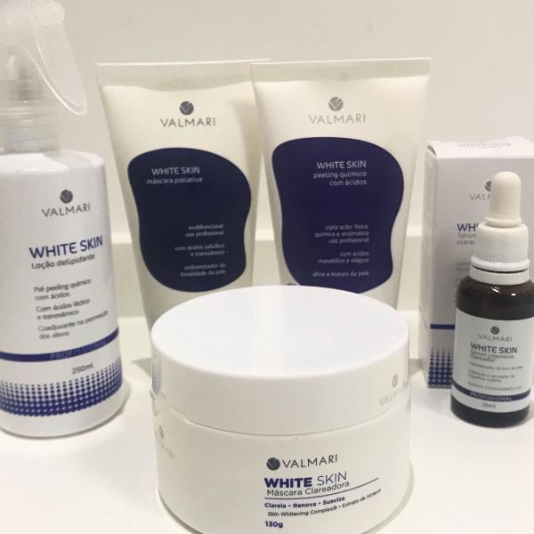 Kit whites skin valmari tratamento clareador facial