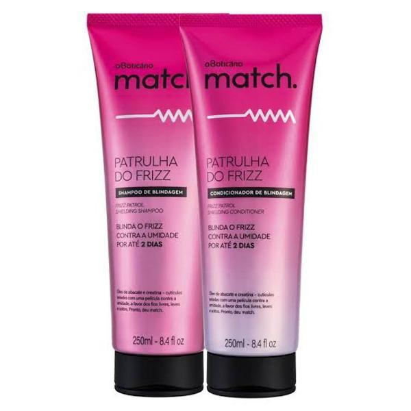 Shampoo e condicionador match patrulha do frizz de o