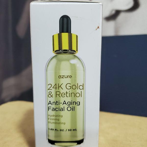 24k gold and retinol anti-aging facial oil