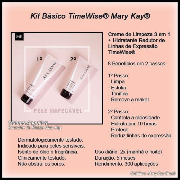 Kit básico mk (gel de limpeza 3 em 1 e hidratante redutor