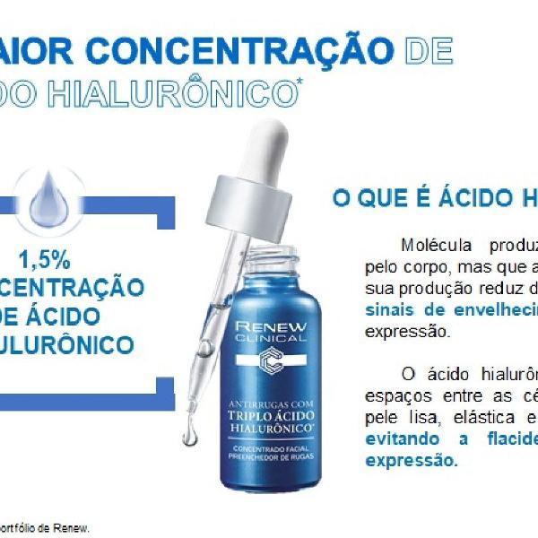 Kit ácido hialurônicorenew antirrugas triplo * 30g avon