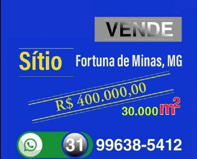 Vende Sitio, Fortuna de Minas, Estado de Minas Gerais