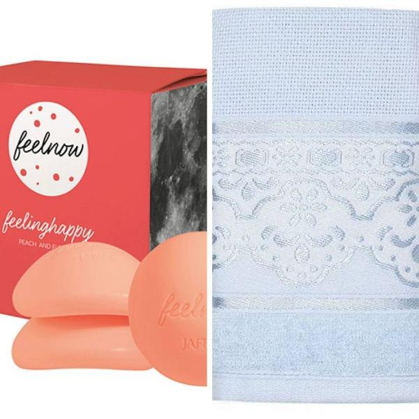 Kit beleza e banho - caixa de sabonetes feelnow jafra +