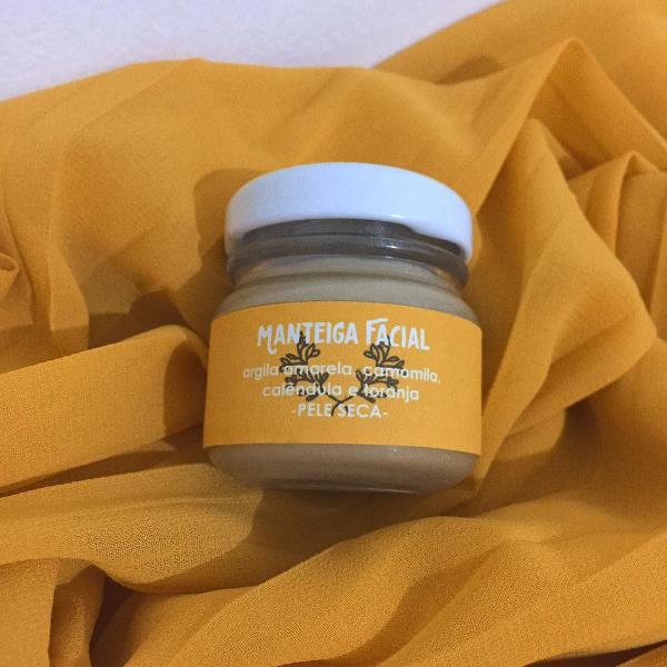 Manteiga facial argila amarela