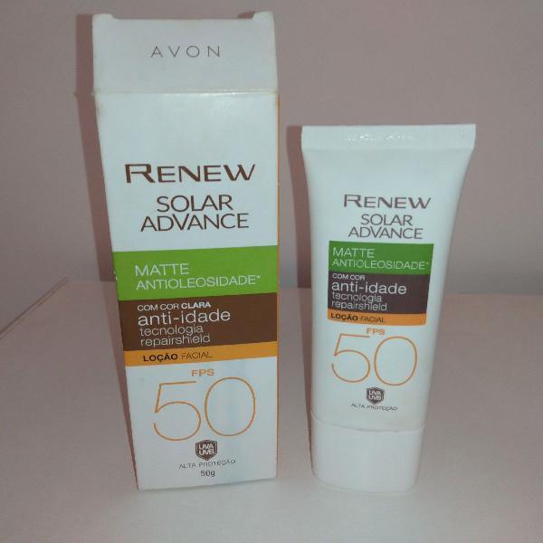 Protetor solar antioleosidade anti-idade fps 50 cor clara