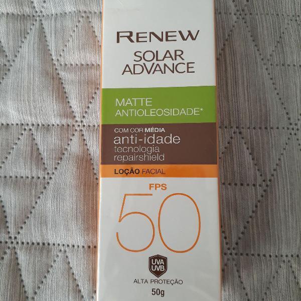 protetor solar facial com cor