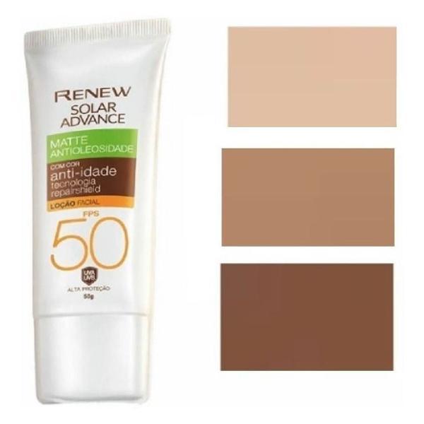 Protetor solar facial renew advance matte com cor anti-idade