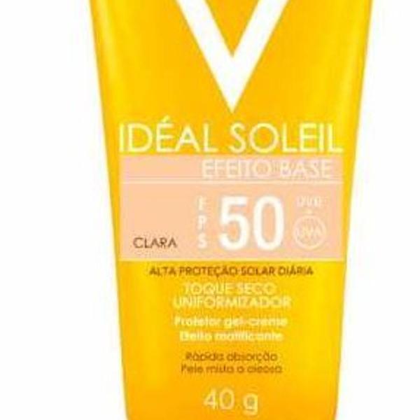 Protetor solar vichy fps 50 efeito base cor clara