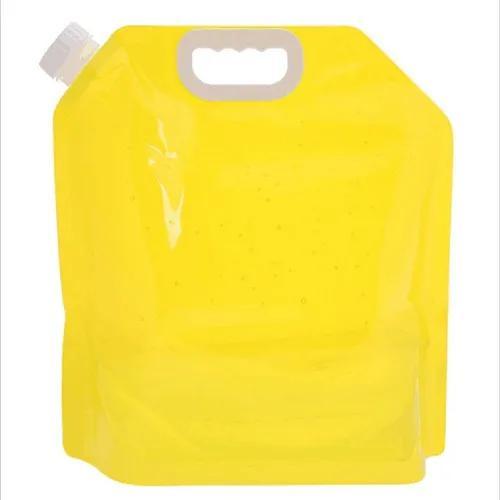 Amarelo 5l pe bolsa de água dobrável armazenamento de