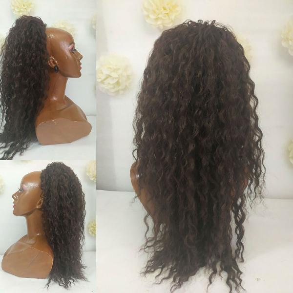 Aplique rabo de cavalo cabelo organico