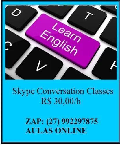 Aulas de conversação língua inglesa skype ou presencial