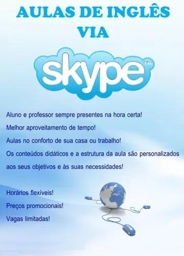 Aulas particulares de inglês via skype