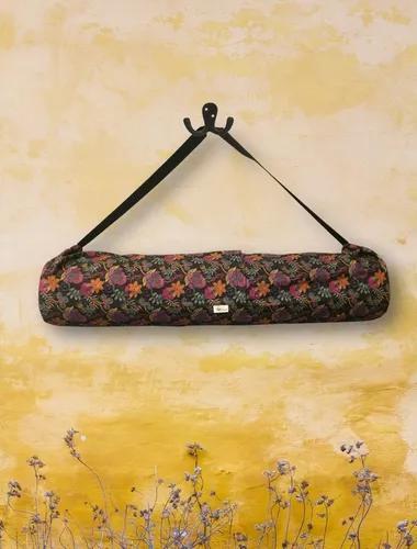 Bolsa porta mat de yoga - jardim das flores