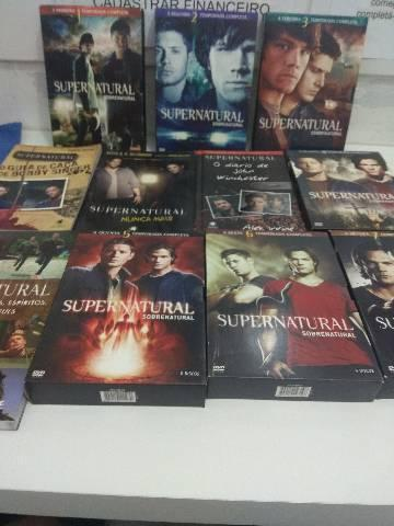 Box 7 temporadas supernatural + 4 livros