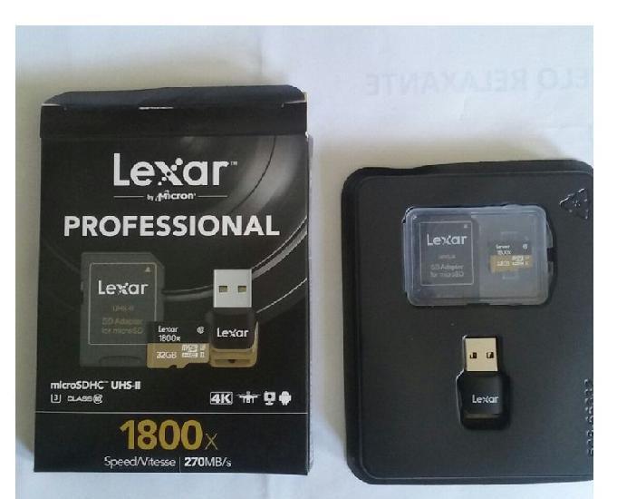 Cartao de memoria profissional Lexar 32Gb microSDXC alta per