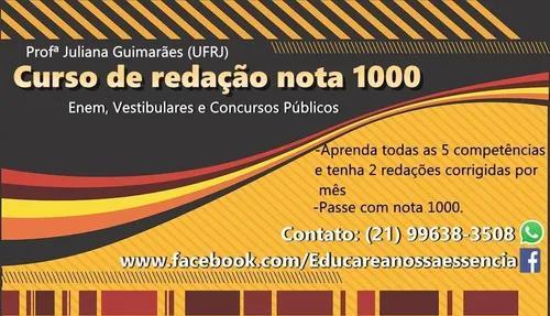 Curso de redação nota 1000, inglês, espanhol e reforço