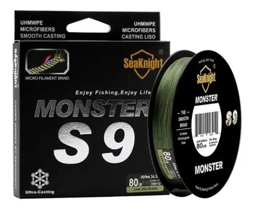 Linha pesca multifilamento monster 9 fios 0.50mm 100lb 300m.