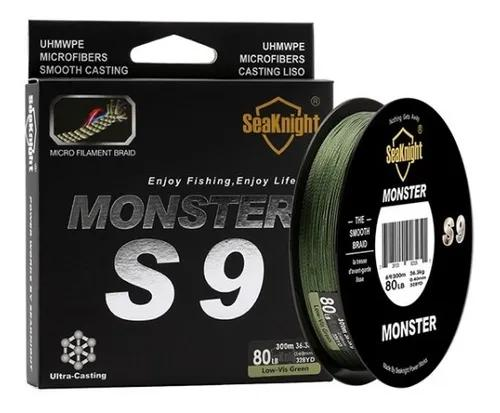 Linha Pesca Multifilamento Monster S9 Fios 0.23mm 30lb 300m